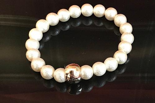 Silky Ivory Beaded Bracelet