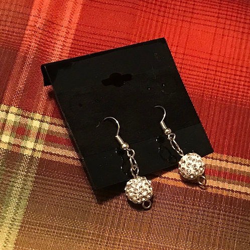 Crystal Ball Earrings (small)