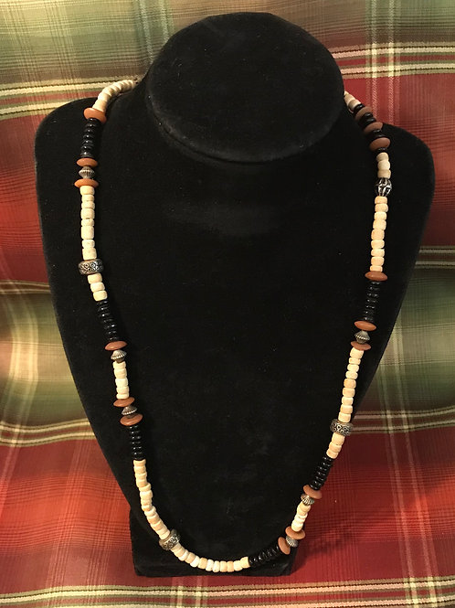 Brown/Tan Wooden Necklace 22inch