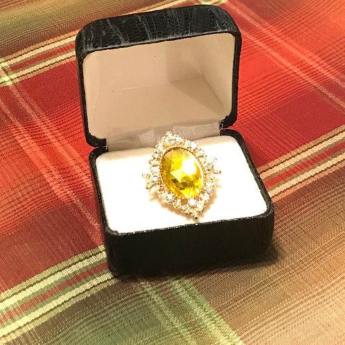 Yellow Gem Stone Ring