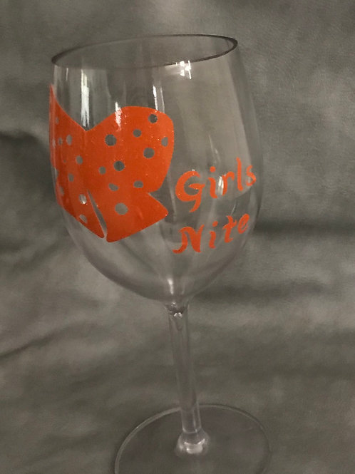 Girls Nite(Acrylic Wine Glass)