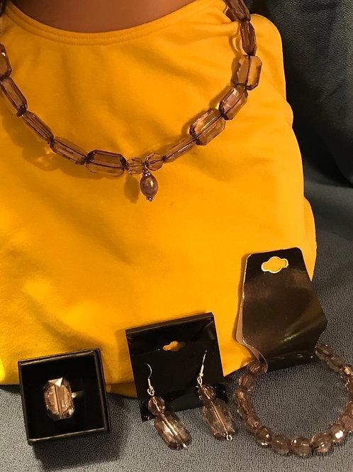 Charcoal Necklace Set