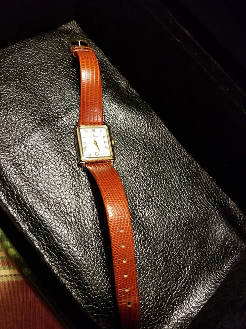Watch Square Face(Brown Leather Band