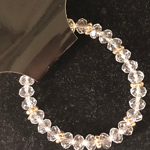 Clear w/Gold Links