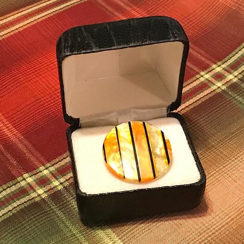 Striped Yellow/Black Ring