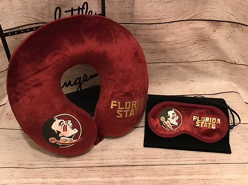 Florida State Travel Pillow and Mask Combo Set