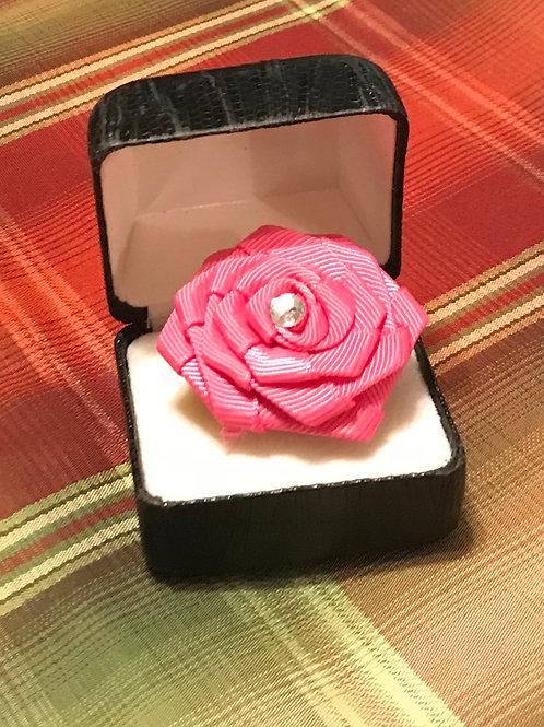 Pink Ribbon-Rose Ring
