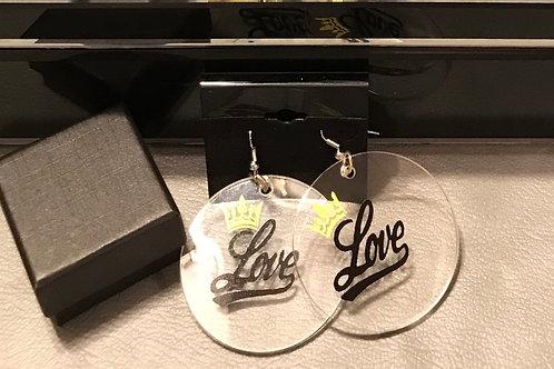 Acrylic Love Earrings