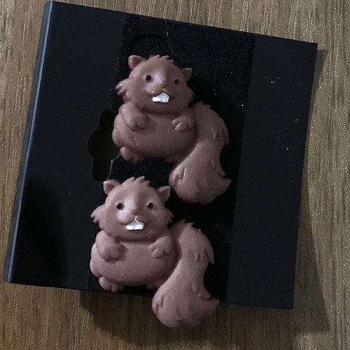 Beaver Earrings