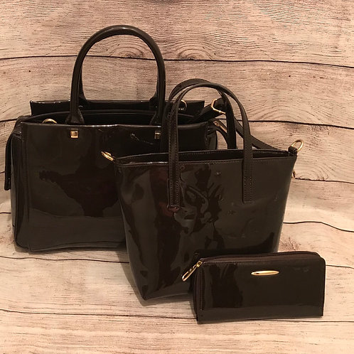 Chocolate Patent Leather Trio