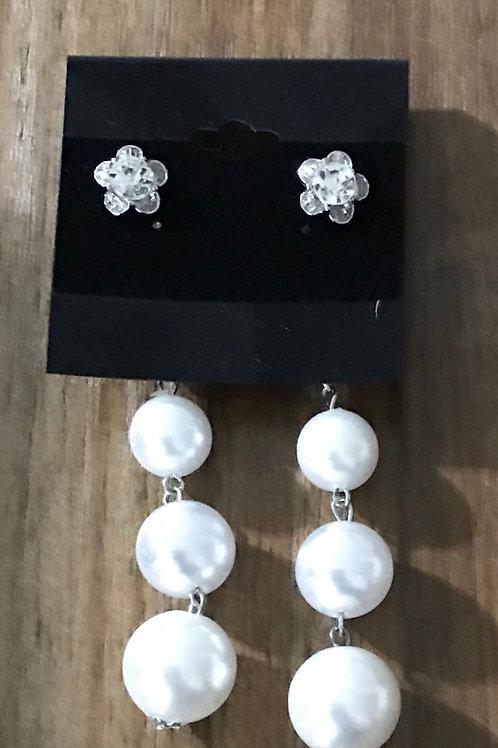 Pearl Like Dangle Flower Top