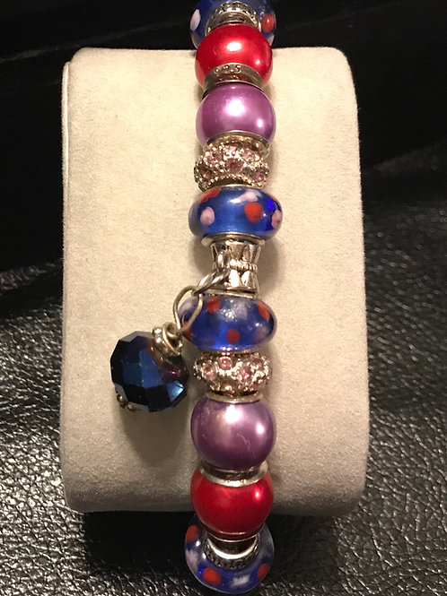 Silver/Beaded Bracelet