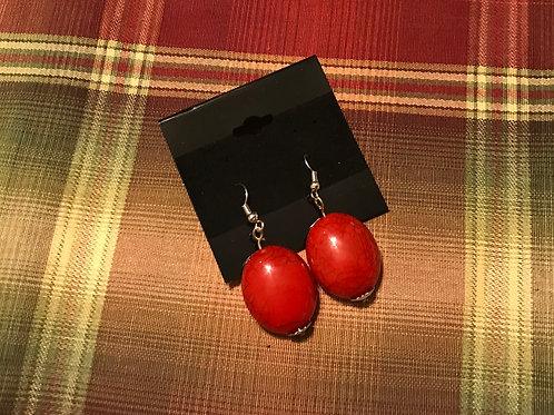 Candy Apple Red Earrings