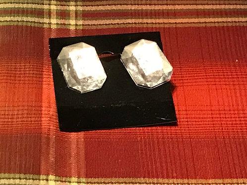 Clear Octagonal Earrings