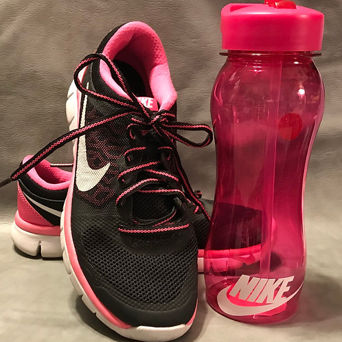 Pink Sports Bottle (Shoes NOT included)