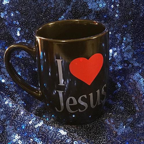 I Love Jesus Ceramic Mug