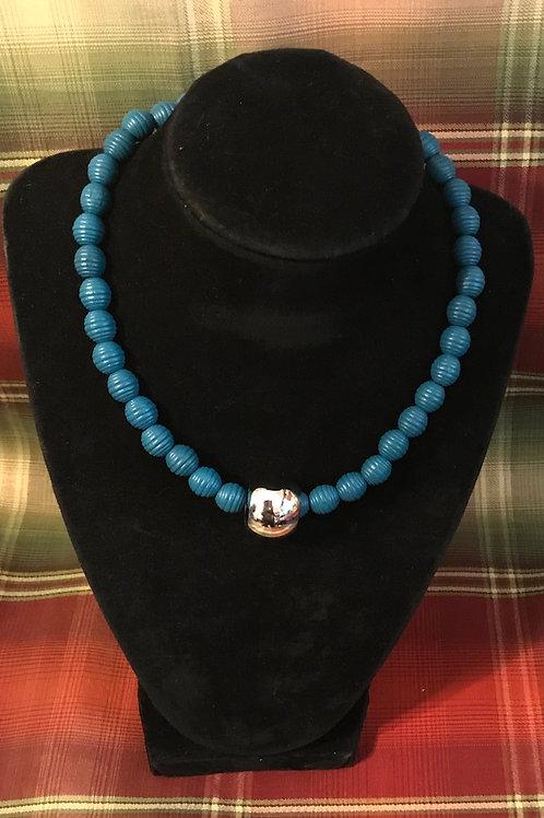 Jaguar Blue Necklace 16 inch