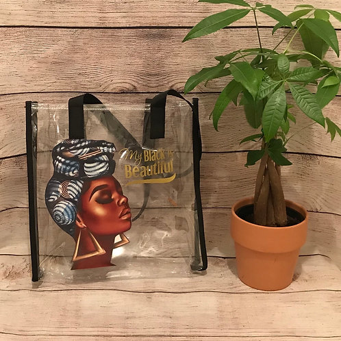 My Black is Beautiful Clear Tote