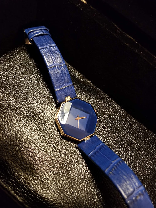 Royal Blue Watch(Leather Band)