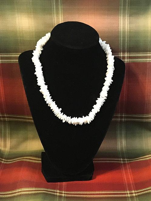 Cream Pucka Shell Necklace 16 inch