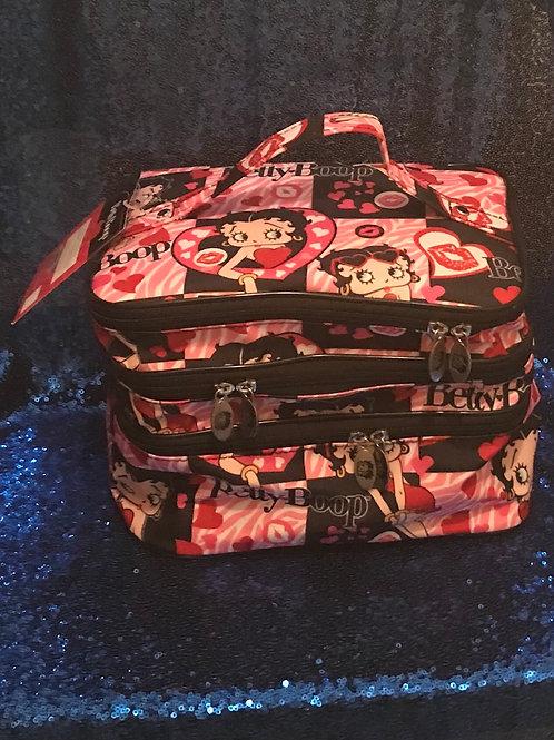 Betty Boop Makeup Bag (Three Layer)