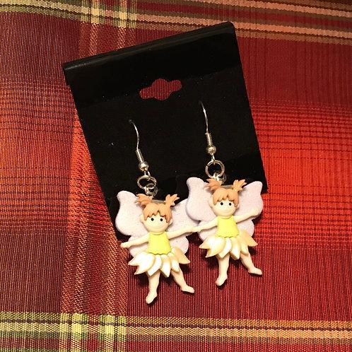 Yellow Fairy Earrings