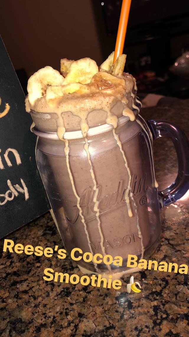 Cocoa Banana Protein Smoothie