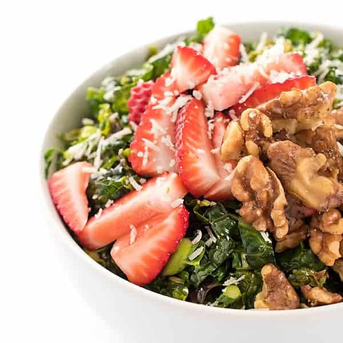 Summer Strawberry Kale Salad