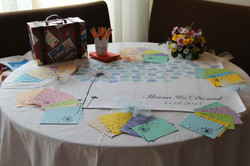 table for presents and wishes