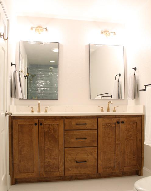 Modern Farmhouse/Industrial Master Bath