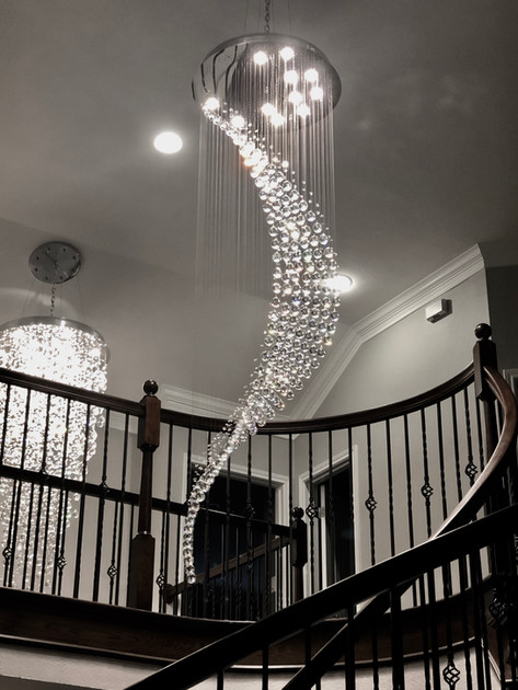 Spiral Crystal Chandelier View 1