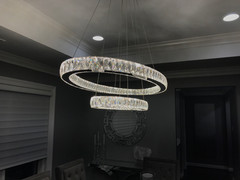 2-Tier Crystal Dining Chandelier