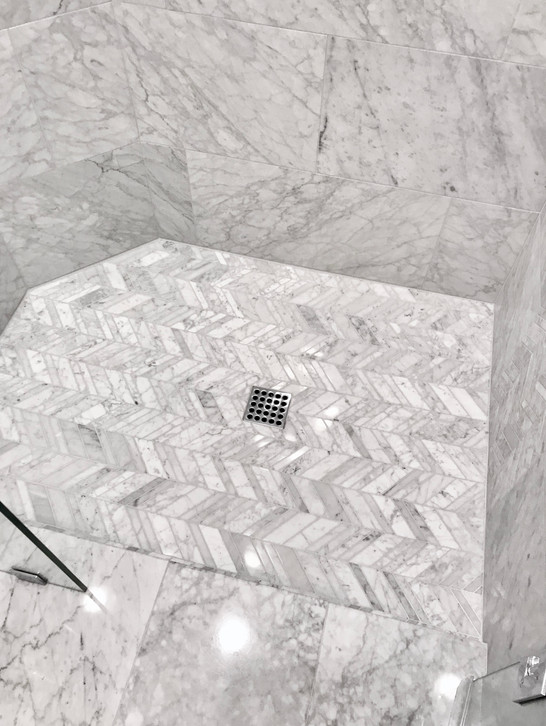Mosaic Marble Shower Floor