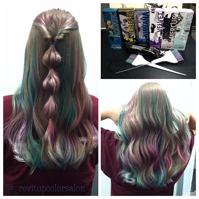 Mermaid hair_ I had so much fun using mainly #pulpriot and some pop XG ! So in love with all these c