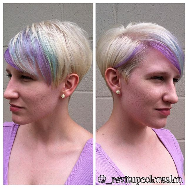 Added some pastel colors to the beautiful blonde pixie !!!