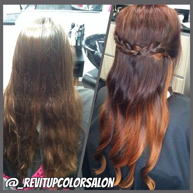 I got to do this fun color transformation yesterday on an old co-worker _D It is a beautiful vibrant