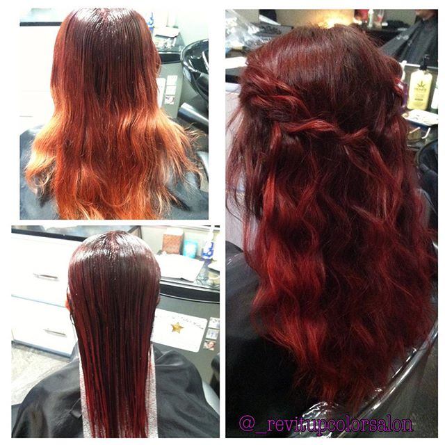 Much needed refresh before she goes on her cruise! We also did an #olaplex treatment and finished wi