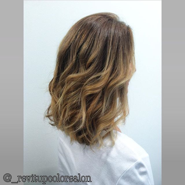 --- Textured Lob with Balayage from the other day _D thanks to #OLAPLEX and the pony tail technique