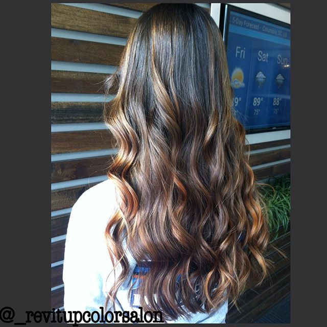 I'm loving this rich chocolate and caramel balayage!!!