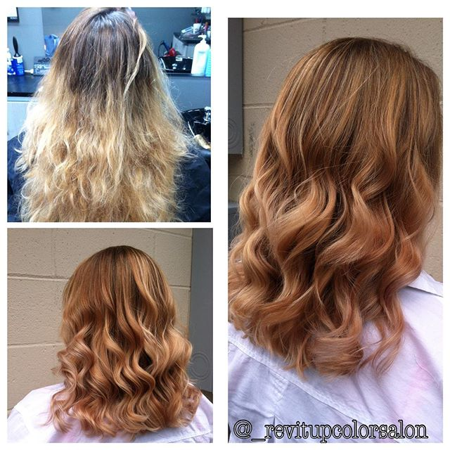 Before and afters are my favorite thing _D still loving the shine from _pravana #rosegoldmetalic