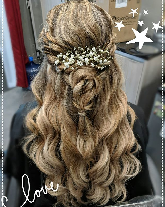 Throw back to some prom hair I did