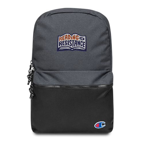 Reading Is Resistance Embroidered Champion Backpack