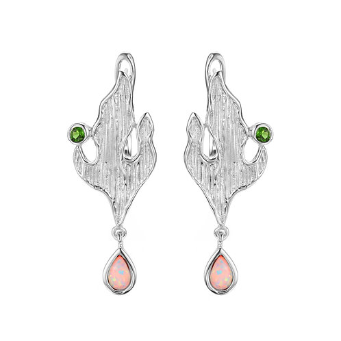 MOUNTAIN TOP OPAL SILVER EARRINGS