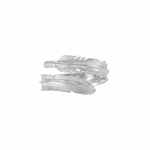 STERLING SILVER PLUME RING