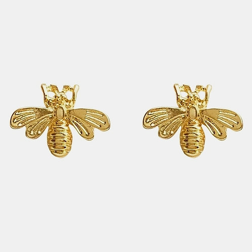 VINTAGE BEE GOLD PLATED STUDS