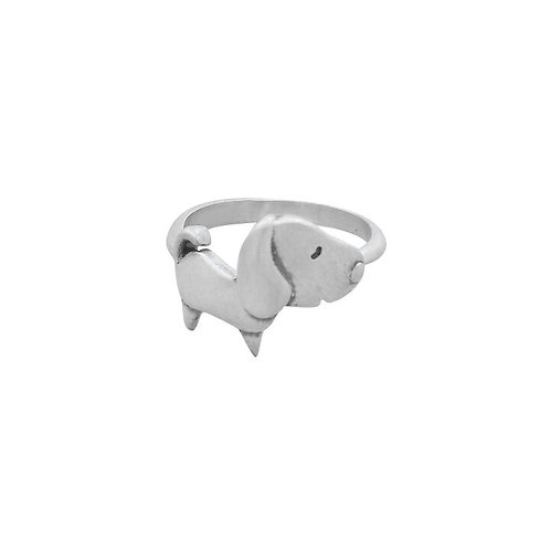 CUTE DOG ADJUSTBLE RING IN STERLING SILVER