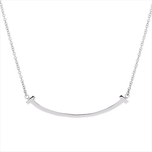 SMILE NECKLACE IN STERLING SILVER