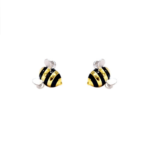 CUTE BEE STERLING SILVER STUDS