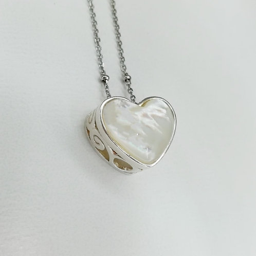 ROYAL HEART STERLING SILVER NECKLACE