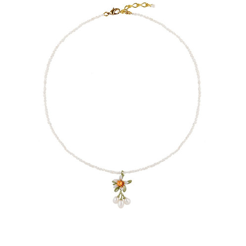 ORANGE BLOSSOM NECKLACE WITH FRESHWATER PEARL
